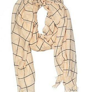 Rachel Pally Accessories - Rachel Pally cream grid scarf